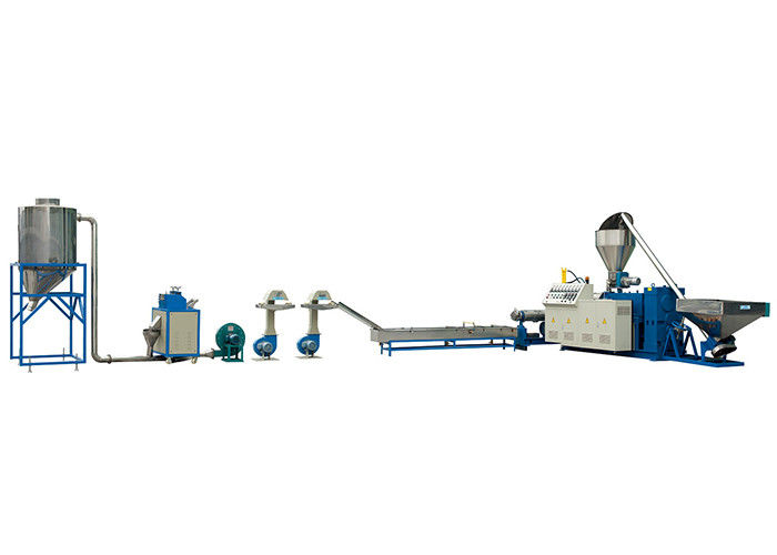 LD-SZ-65 PVC Conical Twin Plastic Recycling Equipment Screw Pelletizing Machine