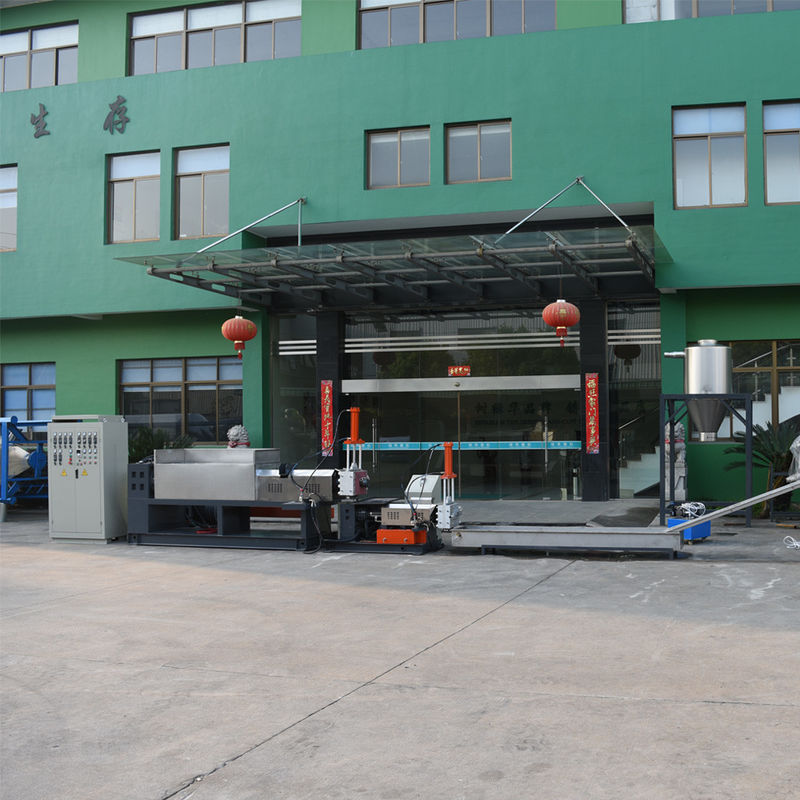 Nylon waste silk cloth film recycling and pelletizing line LDT power 30kw